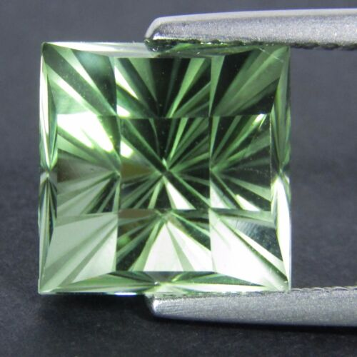 6.80Ct Natural Green Amethyst (prasiolite) Fashion Checker Cut Loose Gem Ref VDO