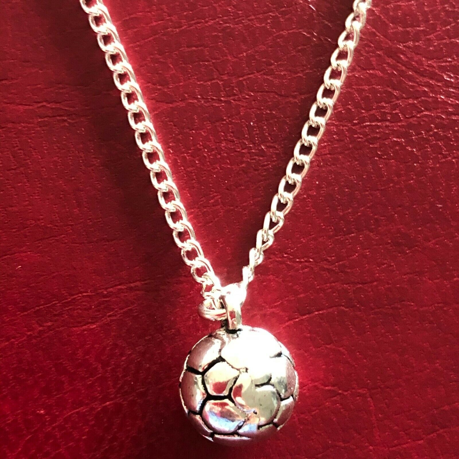 Jewellery - FOOTBALL CHARM NECKLACE PENDANT BOYS MENS JEWELLERY 16 18 20 silver plated chain