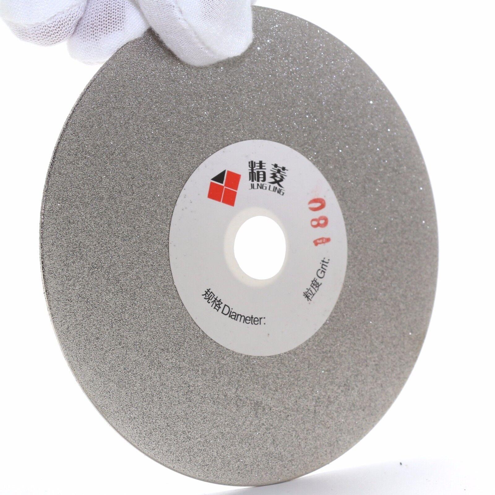 "как выглядит 4"" inch 100mm Grit 180 Diamond Grinding Disc Wheel Coated Flat Lap Disk Lapidary фото"