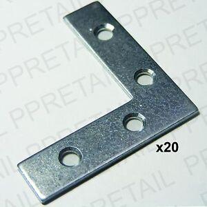 20-x-50mm-FLAT-CORNER-RIGHT-ANGLE-BRACKET-REPAIR-PLATE-Fixing-Joining-Brace
