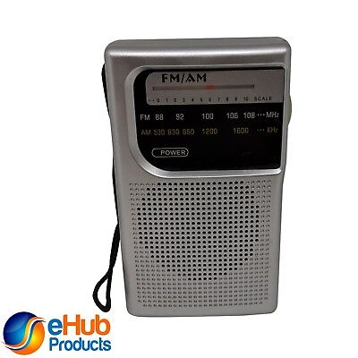 AM/FM Battery Operated Portable Pocket Radio Best Reception and