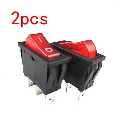Zing Ear Ze-235l Illuminated Red Nylon 66 Rocker Switch With Neon Lights