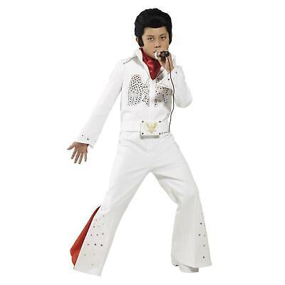 Jungen Elvis Presley Kinderkostüme Rock n Roll Stern König Kostüm Kind Outfit (Elvis Kostüme Kinder)
