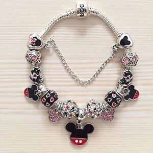 Disney Mickey Mouse Pandora Charm Bracelet & Charms Ideal Hen Bridesmaid Gift