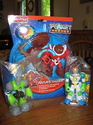 Fisher Price Planet Heroes Earth Ace Moon Lunar Mars Digger Figures toy parts