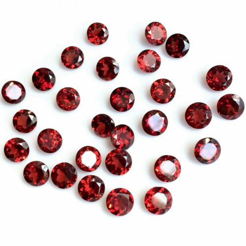 Wholesale Lot 4mm Round Cut Natural Mozambique Garnet Loose Calibrated Gemstone