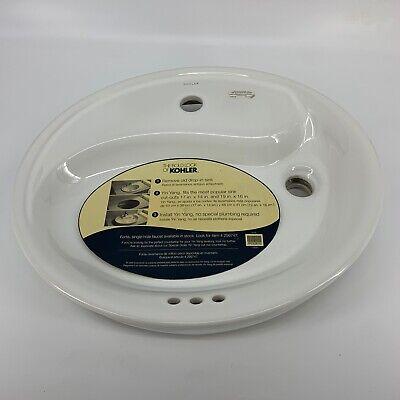 Kohler Yin Yang Wading Pool Bathroom Sink Single-Hole WHITE Unused covid 19 (White Wading Pool coronavirus)