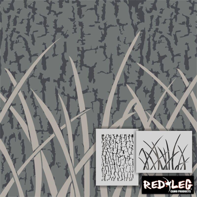 Redleg Camo ™ 912/2 2 piece camouflage grass bark airbrush duck
