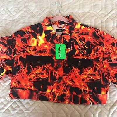 RARE Jaded London Denim Flame Jacket