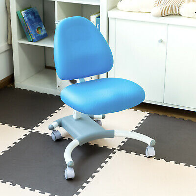 Blue Office Chair Children Student Ergonomic Desk Seat Correct Posture X-base