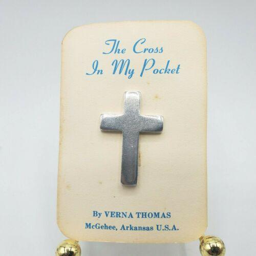 Vintage The Cross In My Pocket Poem Silver Cross Bible Verse Card Verna Thomas