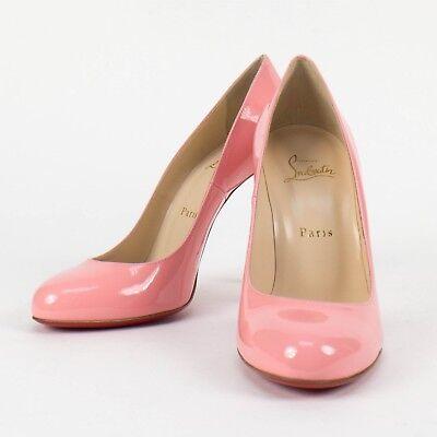 New CHRISTIAN  LOUBOUTIN 'FIFI' Pink Patent Leather Pumps Size 7.5/37.5 $695