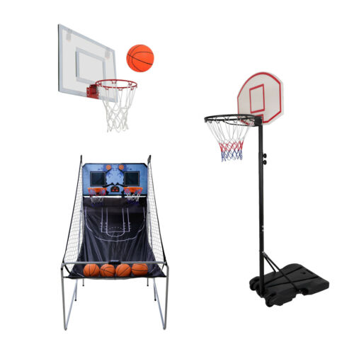 Adjustable Basketball Hoop System Stand Kid Indoor Outdoor Party Fun for Family Backboard Systems
