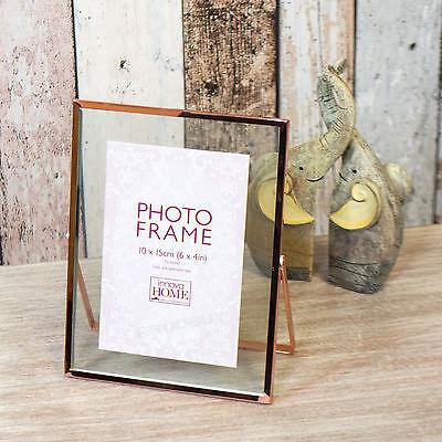 oto Frame Copper Rose Gold Edge Decorative Vintage Picture (4x6 Gold Frames)