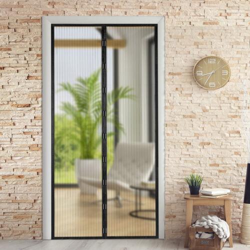 Hands-Free Magnetic Screen Door Mesh Curtain Anti Mosquito B