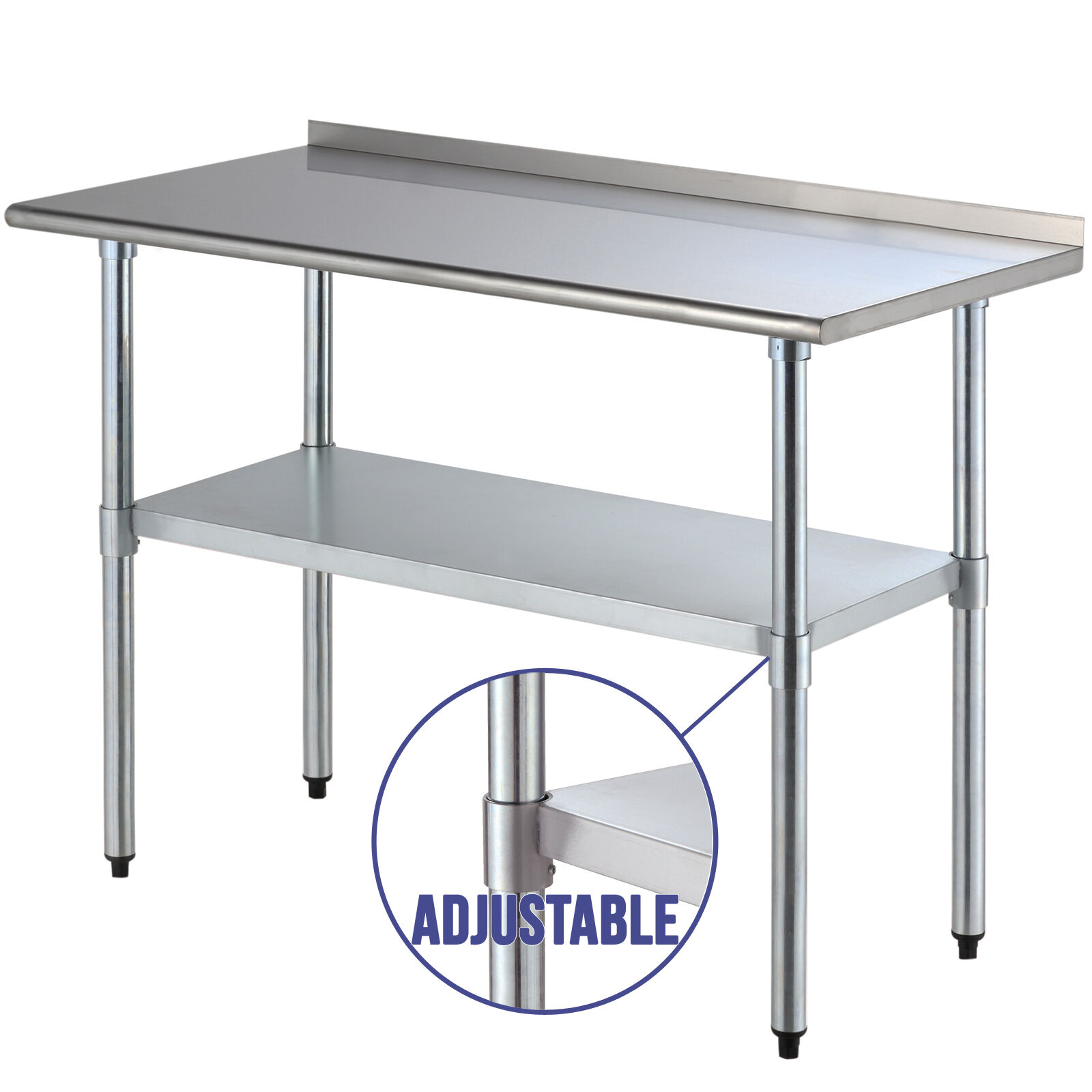 "24"" X 48"" Stainless Steel Work Prep Table Kitchen"