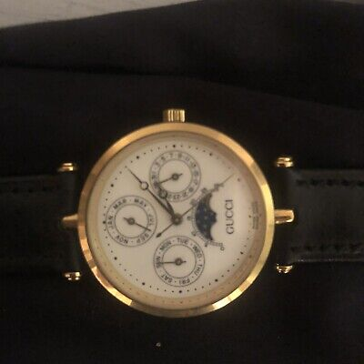 VINTAGE GUCCI 2001M White DIAL MOONPHASE WATCH EUC