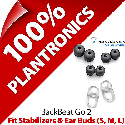 Plantronics Fit Kit 2 x Stabilizers + Ear Gels Buds (S, M, L) for BackBeat Go 2 Plantronics, Ear Gels