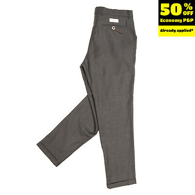 RRP €215 THE EDITOR Virgin Wool Pleated Trousers Size IT 52 XL HANDMADE in Italy