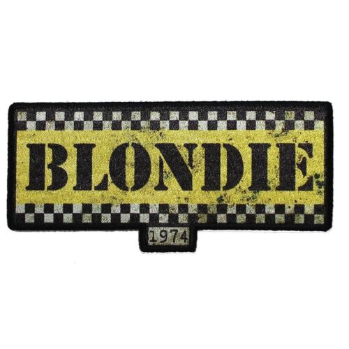 Blondie Taxi Logo Sublimation Iron On Patch - Rock Music Band  059-W