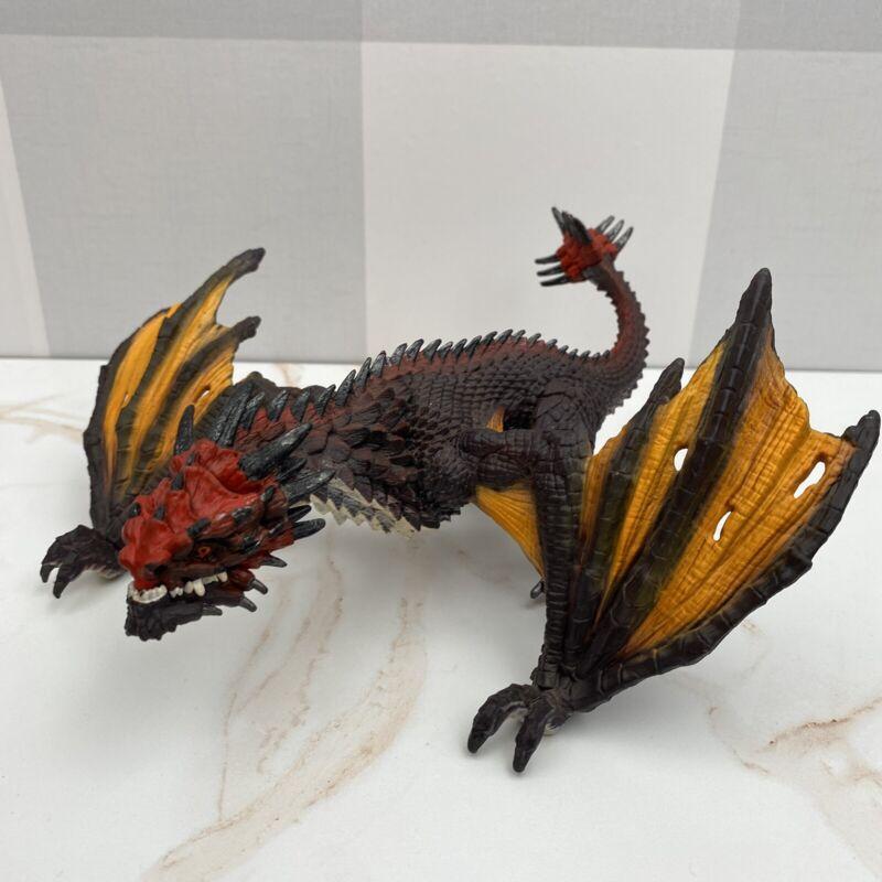 2014 Schleich Eldrador Mythical Creatures Flying Red Orange Dragon Monster 73527