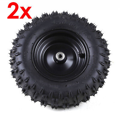"""Pair of 4.10 - 6"""" Gokart Tire Tyre with Wheel Rim for Electric Scooter Kids ATV"""