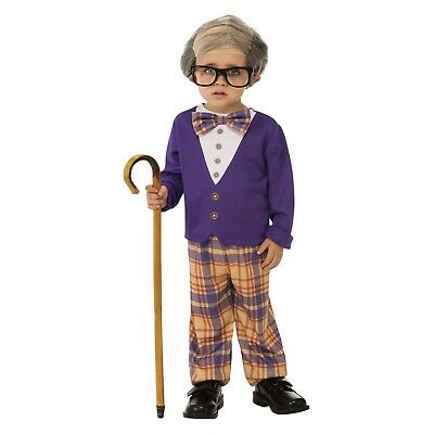 Funny Little Old Geezer Man Bad Grandpa Halloween Costume Toddler Boys 2T-6 - M