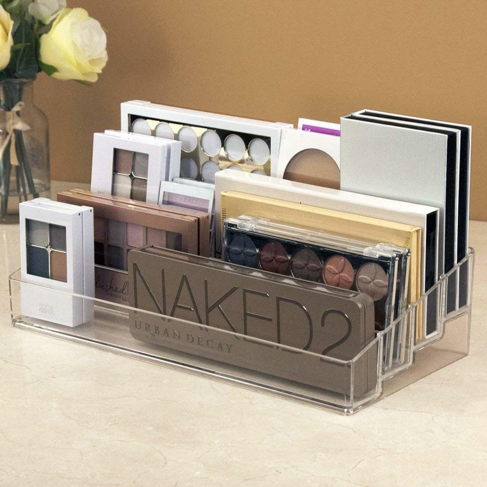 Clear Multi-Level Makeup Palette Organizer Cosmetics Beauty