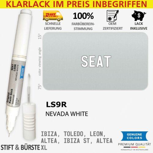 LS9R NEVADA WHITE Weiß Lackstift für SEAT 2Y S9R IBIZA TOLEDO LEON ALTEA ST XL