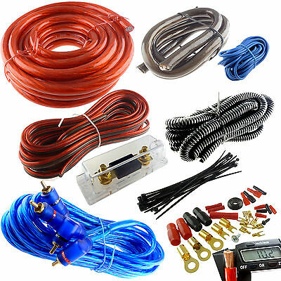 4 GAUGE PREMIUM RED POWER WIRE WIRING KIT 3000W INSTALL CAR AMPLIFIER INSTALL