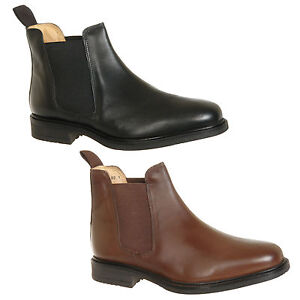 Mens-Chelsea-Boots-Black-Brown-Size-6-7-8-9-10-11-12
