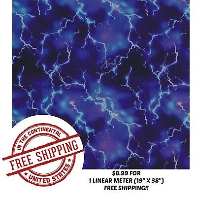 Hydrographic Water Transfer Hydro Dip Film Storm Watch 1m 19x38