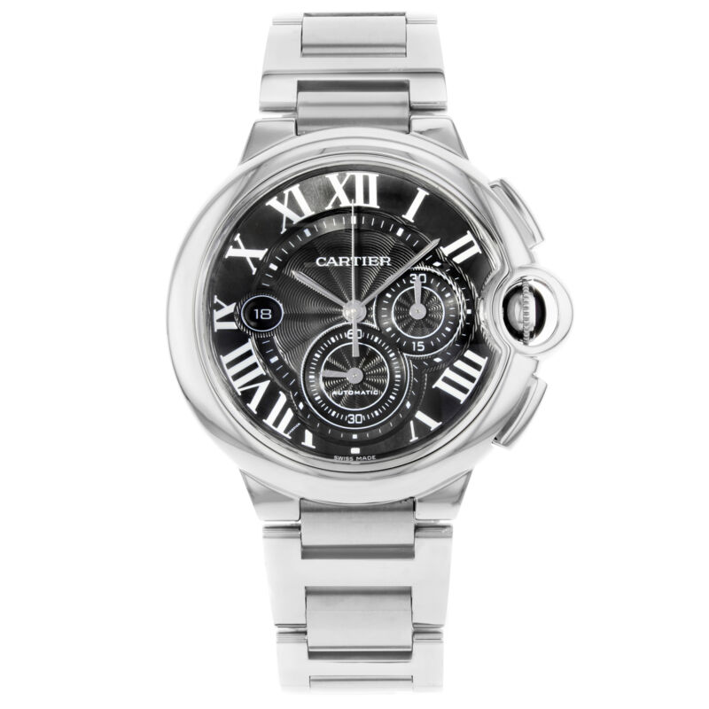 Cartier Ballon Bleu Chronograph Steel Grey Dial Automatic Mens Watch W6920025 - watch picture 1