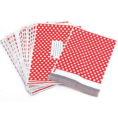 50 Plastic Mailing Postal Bag Self Seal Packing Packaging Postage 14x19 Red