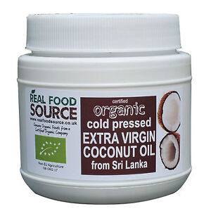 CERTIFIED ORGANIC COCONUT OIL COLD PRESSED EXTRA VIRGIN FROM SRI LANKA 500ML TUB