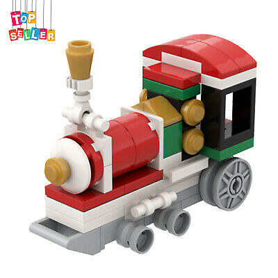 Christmas Train Locomotive Building Bricks Toys Set 58 Pieces for Decoration