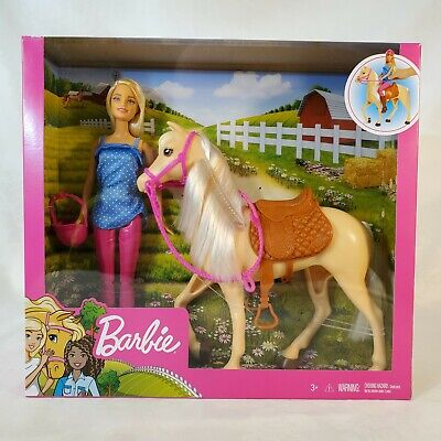 Barbie Doll and Horse and Accessories Playset 2020 - Barbie Loves Her Horse NEW