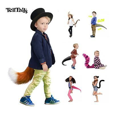 Realistic Faux Fur Animal Dinosaur Tail Kids Fancy Dress Costume Accessory](Dinosaur Realistic Costume)