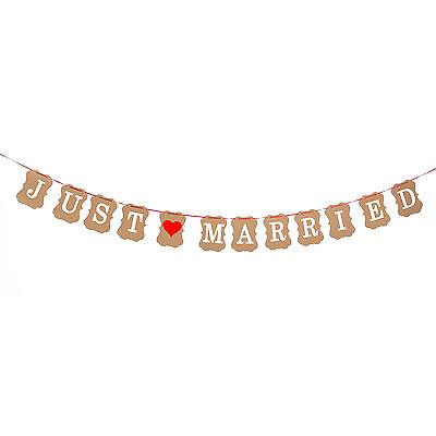 Just Married Girlande Hochzeit Dekoration