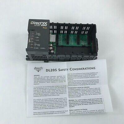Automation Direct D2-04b-1plc Base 4 Slot Din Rail New Open Box