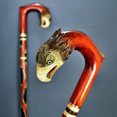 NEW MODEL EAGLE Cane Walking Cane Stick Wood Wooden Handmade Sale