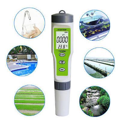 Tester del misuratore di qualità dell'acqua pH 3 TEMP Meter digitale pH 3 in 1