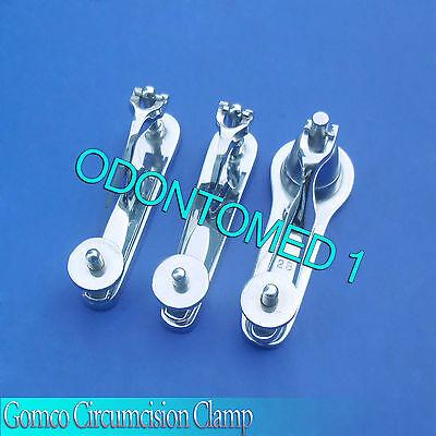 3 Pcs Gomco Circumcision Clamp 1.11.32.8cm Surgical Instruments