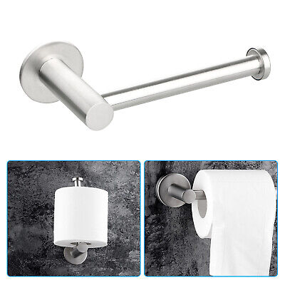 Stainless Steel Bathroom Toilet Roll Paper Holder Hook Wall Accessories Durable