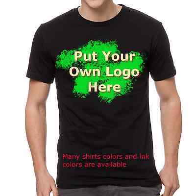 36 Custom Screen Printed Personalized Short Sleeve T-shirts, Gildan Fast Service