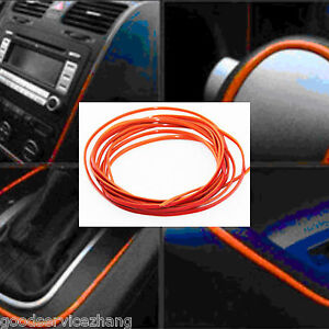 New-Car-Grille-Interior-Exterior-Mouldings-Trim-Decorative-Strip-Orange-Line-5M