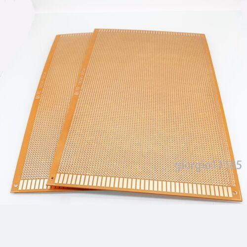 US Stock 2pcs Prototype PCB Universal Bread Board 18 x 30cm Sigle Side Copper