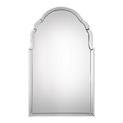 Gorgeous Frameless Venetian Arch Wall Mirror | Vanity Curved Glass Frame