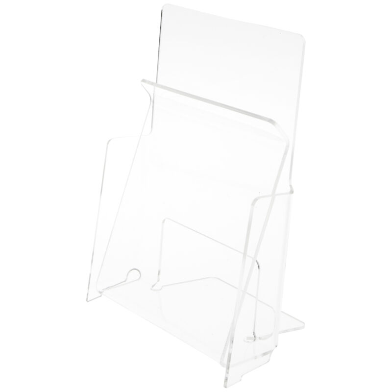 """Plymor Acrylic Pinch Half-Sheet Paper Holder, Fits 8.5"""" x 5.5"""" Items (6 Pack)"""