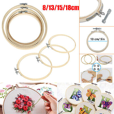 8/13/15/18cm Embroidery Hoops Bamboo Circle Cross Stitch Hoo